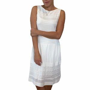 NWT Ralph Lauren White Textured Knit Dress